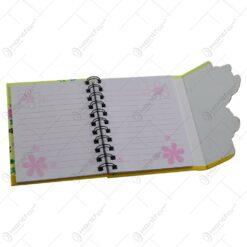 Notes cu spirala - Design cu bufnite si flori - Diverse modele