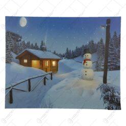 Tablou pentru perete cu led - Design cu peisaj de iarna - Diverse modele
