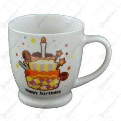 Cana realizata din ceramica - Happy Birthday