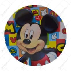 Farfurie intinsa realizata din melamina - Design Mickey Mouse