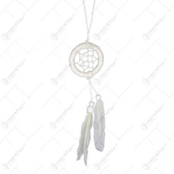 Prinzator de vise realizat din material textil si pene naturale - Dream Catcher