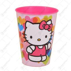 Pahar realizat din material plastic - 260 ml - Design Hello Kitty