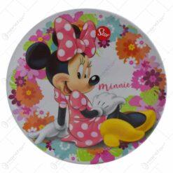 Farfurie intinsa realizata din melamina - Design Minnie Mouse