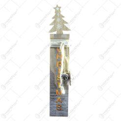 Decoratiune cu LED realizata din lemn - Design Brad ( 41cm )