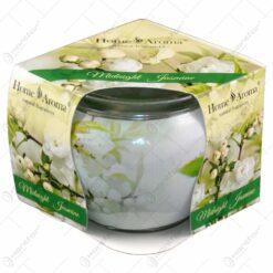 Lumanare parfumata in pahar realizat din sticla - Desing Midnight Jasmine