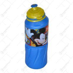 Plosca realizata din materilal plastic pentru bauturi - 530 ml - Design Mickey
