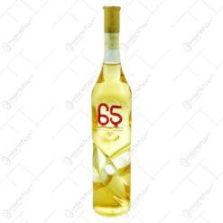 Sticla ornamentala cu vin inscriptionat cu numere