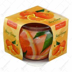 Lumanare parfumata in pahar realizat din sticla - Vanilla orange
