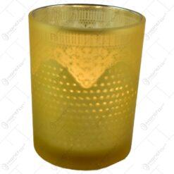 Candela realizata din sticla in forma de pahar - Design Elegant - Diferite modele
