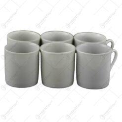 Cana mica pentru cafea realizata din ceramica - Alb (Tip 1)