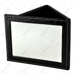 Oglinda de mana cu husa tip portofel