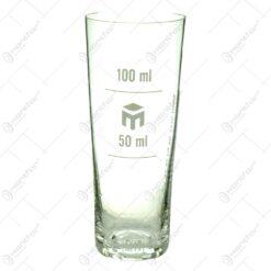 Pahar gradat realizat din sticla - 100ml