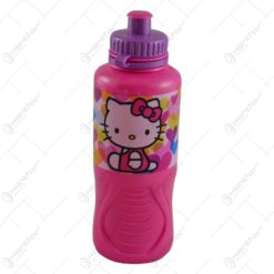 Plosca realizata din plastic pentru fetite - 400 ml - Design Hello Kitty