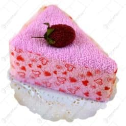 Prosop de bucatarie realizat din material textil si impaturita in forma de felie de tort - Diferite culori