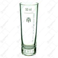 Pahar gradat realizat din sticla - 50ml