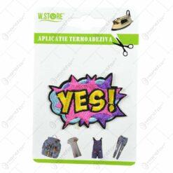 Ornament textil termoadeziv pentru materiale textile - Yes!