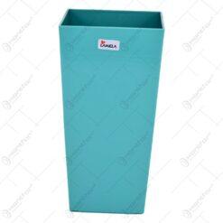 Ghiveci pentru flori realizat din material plastic - Design Contemporan - Albastru - Mic