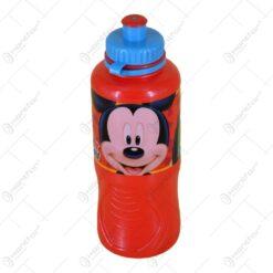 Plosca realizata din material plastic pentru bauturi - 400 ml - Design Mickey Mouse