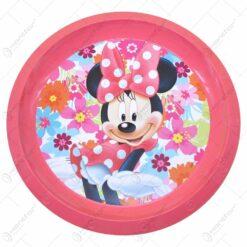 Farfurie intinsa realizata din material plastic - 21 cm - Design Minnie Mouse