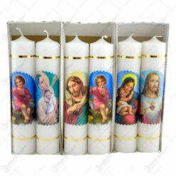 Set 2 lumanari relizate in forma cilindrica - Design Religios - Diverse modele