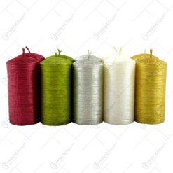 Lumanari groase si scunde in diferite culori mate - se vinde 20 buc/bax