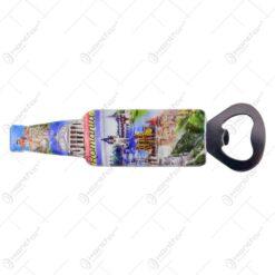 Magnet pentru frigider realizat din rasina cu desfacator de sticle - Design Romania - 2 modele