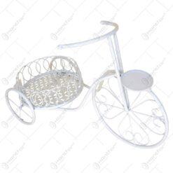 Suport pentru flori realizat din metal in forma de bicicleta. cap. 1 ghiveci (Model 8)