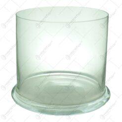 Vaza cilindrica din sticle pentru orhidee de dimensiunea 14X14cm