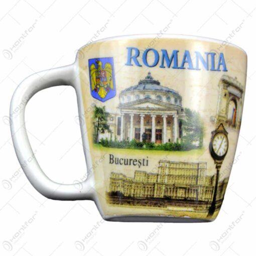 Magnet de frigider realizat din ceramica in forma de cana - Design Bucuresti & Romania (Tip 1)