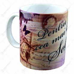 """Cana realizata din ceramica - """"Pentru cea mai buna sotie"""" (Tip 1)"""