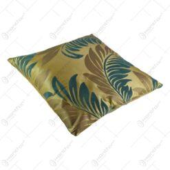 Perna decorativa cu husa realizata din material textil - Design cu frunze