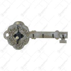 Cuier in forma de cheie realizat din lemn - Design vintage