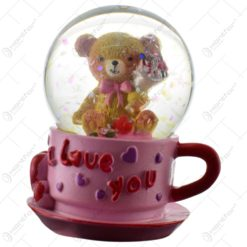 "Glob decorativ cu ursulet - Design ""I love you"" - Diverse modele"