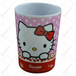 Pahar pentru copii realizat din plastic - 200 ml - Design Hello Kitty