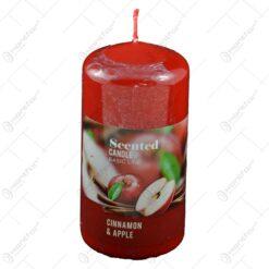 Lumanare parfumata realizata in forma clasica - Aroma de scortisoara si mar - Rosu (60 x 120 MM)