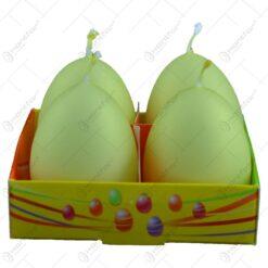 Set 4 lumanari pentru Pasti in forma de ou - Diverse culori