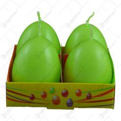 Set 4 lumanari pentru Pasti in forma de ou - Portocaliu