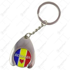 Breloc realizat din metal - Design Romania (Model 3)
