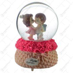 Glob decorativ cu cuplu - Design cu trandafiri - 2 modele