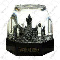 Suport pentru instument de scris realizat din rasina si material plastic si dotat cu LED - Design Castelul Bran -