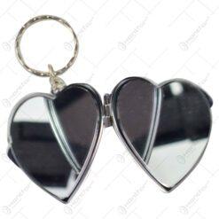 Breloc realizat din metal cu oglinda - Design Romania - 2 modele