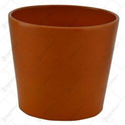 Ghiveci maro realizat din ceramica (15CM)