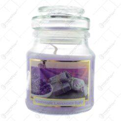Lumanare parfumata in borcan cu capac - Lavanda Casuta - 2 modele (Model 2)