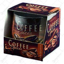 Lumanare parfumata in recipient de sticla cu aroma de cafea - Design Boabe de cafea