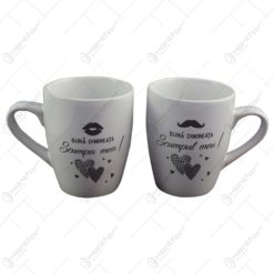 Set 2 cani Wedding realizate din ceramica - Design Scumpa mea-Scumpul meu