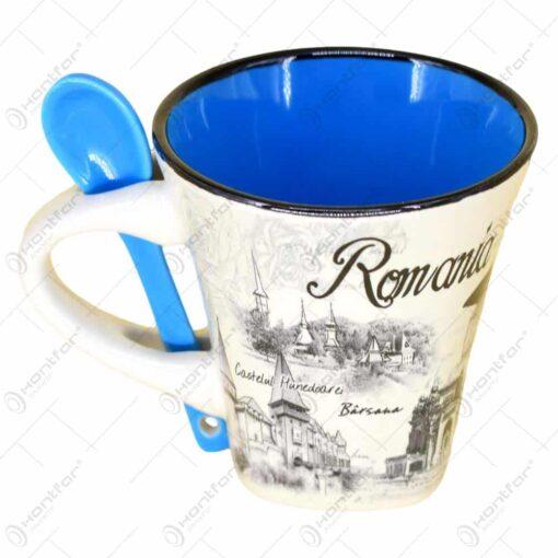Cana cu lingurita realizate din ceramica in cutie decorativa - Design Romania - Diverse modele