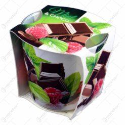 Lumanare parfumata in pahar de sticla cu aroma de Ciocolata/Pere & Ciocolata/Menta