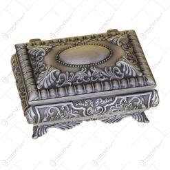 Caseta pentru bijuterii din metal cu capac si picioare - Elegant Metal