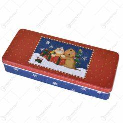 Cutie metalica pentru cadouri 24x10 CM - Design Craciun