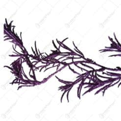 Ghirlanda tip creanga si frunze cu glitter mov